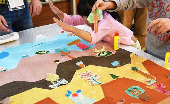 子どもたちと未来の海老名の街をつくろう!アートワークイベントが開催