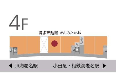 博多天麩羅きんのたかお地図